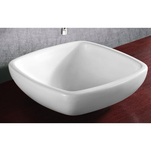 Ceramica Square Vessel Bathroom Sink