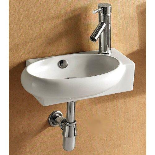 Caracalla Ceramica Oval Wall Mounted Bathroom Sink