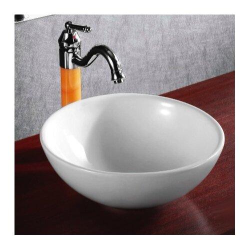 Caracalla Ceramica Round Vessel Bathroom Sink