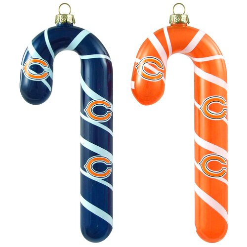 NFL Blown Candy Cane (Set of 2)