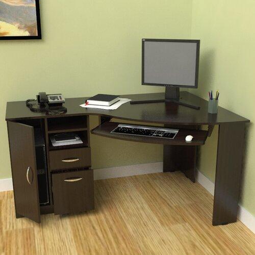 Inval puter Desk with Shelf & Reviews