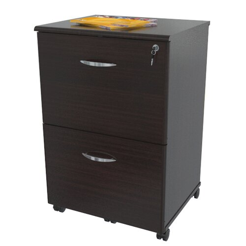 Inval 2-Drawer Mobile File Cabinet