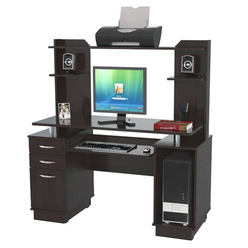 Inval Computer Workcenter with Hutch