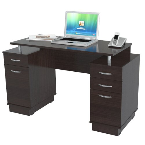 Inval Double Pedestal Computer Desk