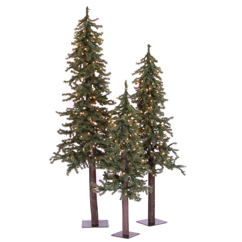 Vickerman Co. Natural Alpine Green Artificial Christmas Tree with 185 Clear Lights