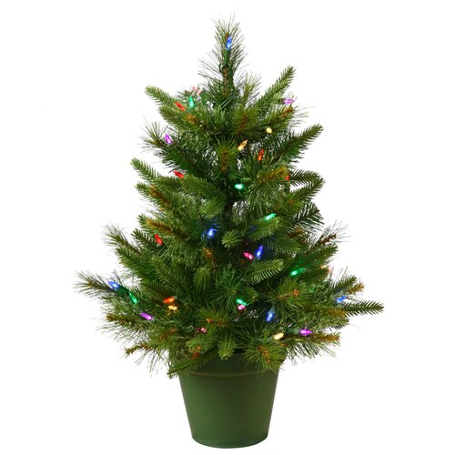 Cashmere 2 Green Pine Artificial Christmas Tree 50 Led Tree With Colored Lights