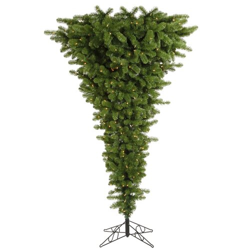 Vickerman Co. Upside Down 5.5' Green Artificial Christmas Tree with 250 Clear Lights
