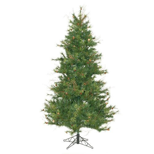 Vickerman Co. Mixed Country Pine Slim 6.5' Green Artificial Christmas Tree with Stand