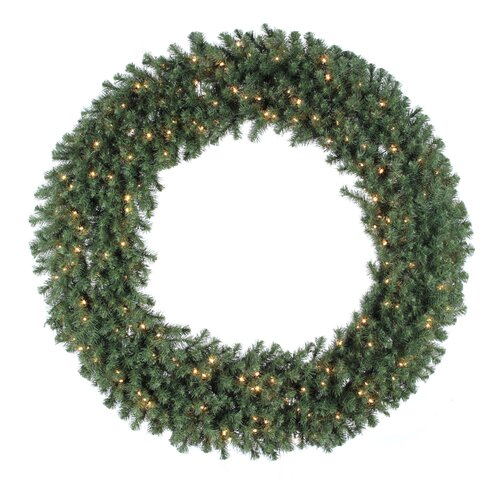 "Vickerman Co. Douglas Fir 60"" Wreath with Clear Lights"