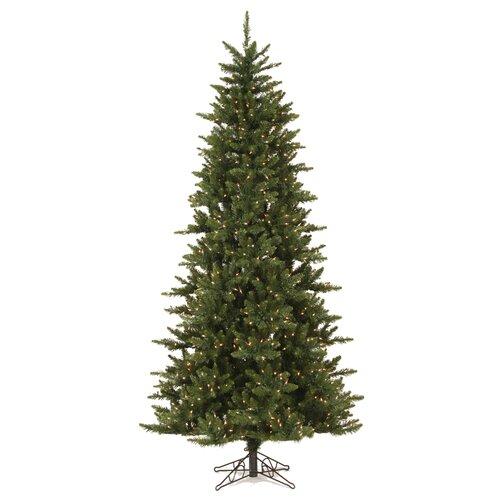 Vickerman Co. Camdon Fir 7.5' Green Artificial Slim Christmas Tree with 585 LED Warm White Lights