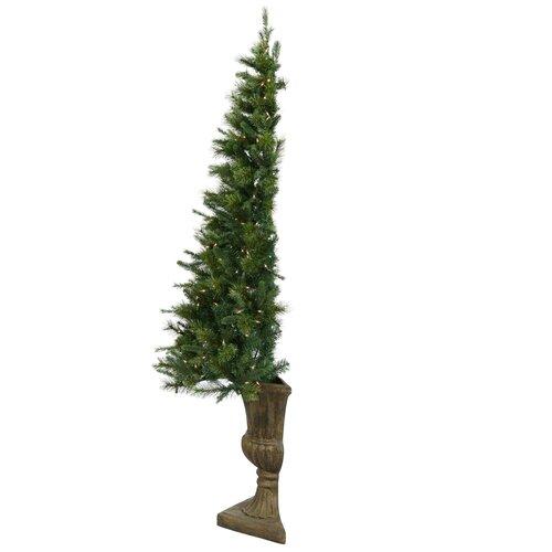 Vickerman Co. Half Potted Artificial Christmas Tree Decoration