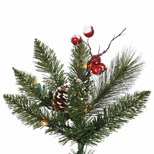 Vickerman Co. 4.5' Green Snowtip Berry/Vine Artificial Christmas Tree with Metal Stand
