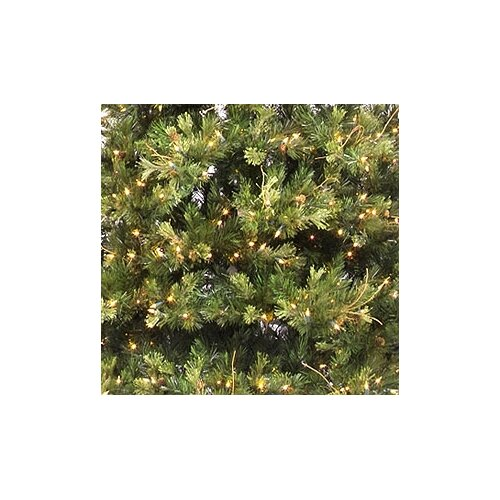 Vickerman Co. Country Pine 12' Green Slim Pine Artificial Christmas Tree with 1900 Pre-Lit Clear Lights with Stand