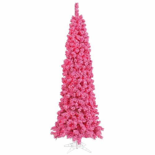 Vickerman Co. 5.5' Pink Pine Artificial Christmas Tree with 150 Lights and Flocked