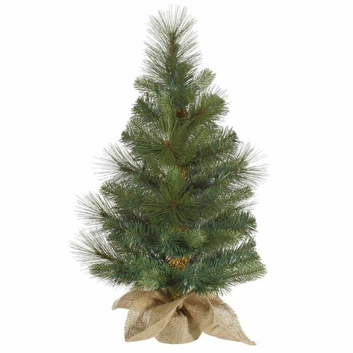 Vickerman Co. Mixed Pine Burlap Table Top Tree