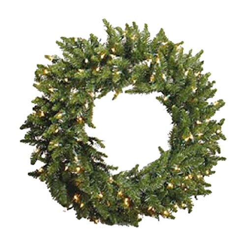 Vickerman Co. Prelit Camdon Wreath with Clear Lights