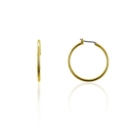 "Kate Bissett Fashion Jewelry Gold-Tone 1"" Hoop Earrings"