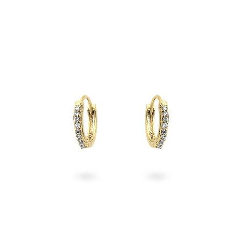 Kate Bissett Gold-Tone Hoop Cubiz Zirconia Earrings