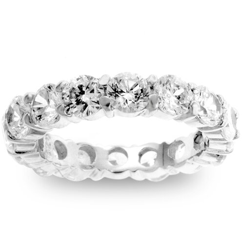 Kate Bissett Sterling Silver Cubic Zirconia Eternity Band