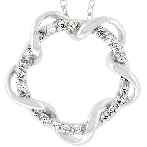 Silver-Tone Cubic Zirconia Wreath Necklace