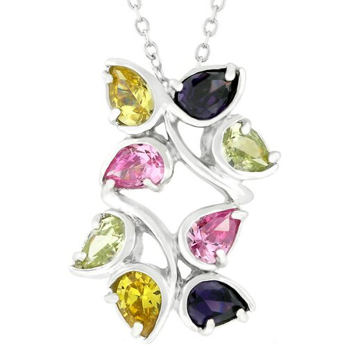 Cubic Zirconia Leaves Necklace