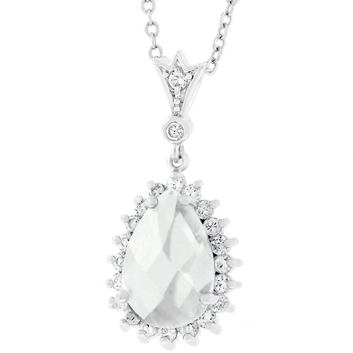 Cubic Zirconia Rain Drop Necklace