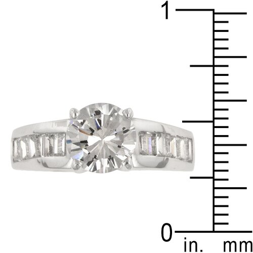 Kate Bissett Clear Cubic Zirconia Accents Antoinette Engagement Ring