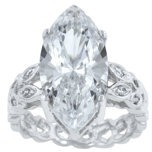 Clear Marquise Cut Center Stone Engagement Ring