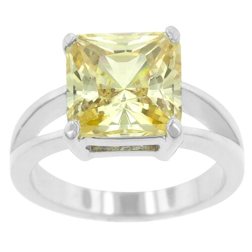 Cubic Zirconia Solitaire Ring