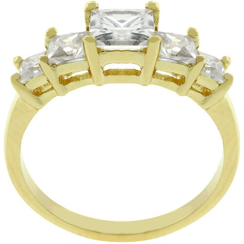 Kate Bissett Gold-Tone Bridal Inspired Journey Cubic Zirconia Ring