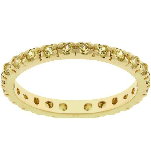 Kate Bissett Rhodium Bonded Cubic Zirconia Eternity Ring