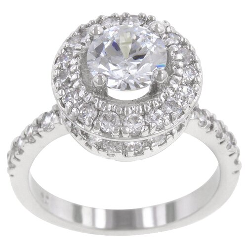 Kate Bissett Clear Cubic Zirconia Princess Deidra Ring