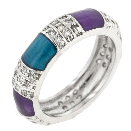 Turquoise and Purple Fashion Enamel Colors Ring