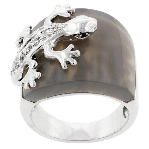 Round Cut Cubic Zirconia Symbolic Fashion Ring