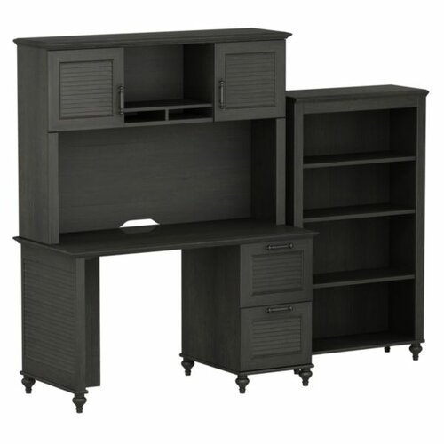 kathy ireland Office by Bush Volcano Dusk Small Standard Desk Office Suite