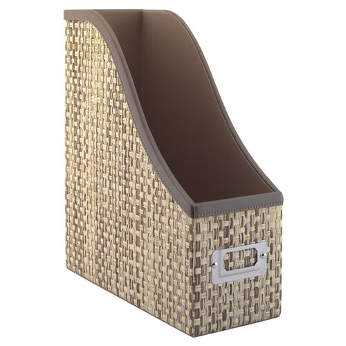 kathy ireland Office by Bush Volcano Dusk assorted storage bin collection with Natural Grass Weave Pattern