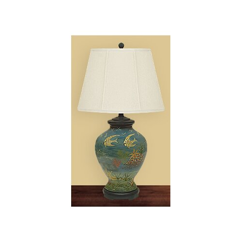 """JB Hirsch Home Decor Sea World 28"""" H Table Lamp with Empire Shade"""