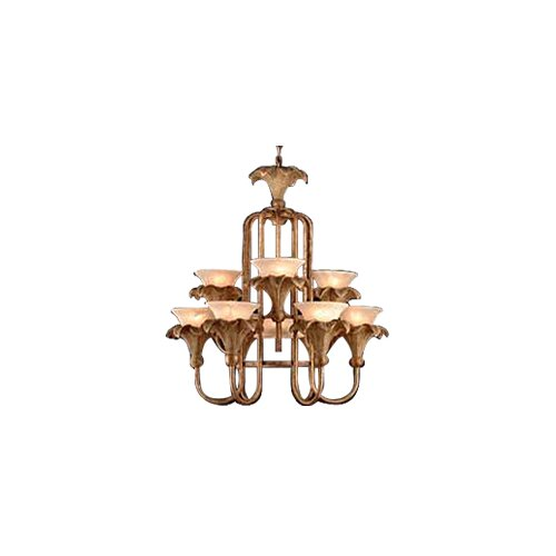 JB Hirsch Home Decor Oxford Palm 10 Light Chandelier
