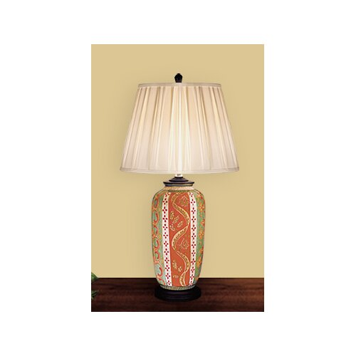 JB Hirsch Home Decor Palermo Vase Table Lamp with Empire Shade