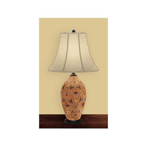 JB Hirsch Home Decor Fantasy Table Lamp with Bell Shade
