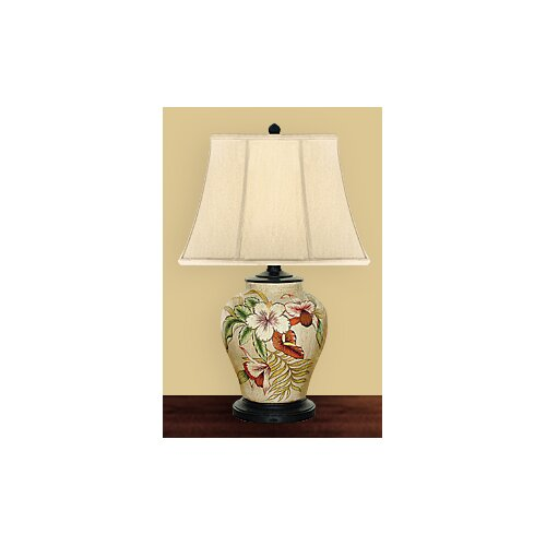 JB Hirsch Home Decor Pansy Accent Table Lamp