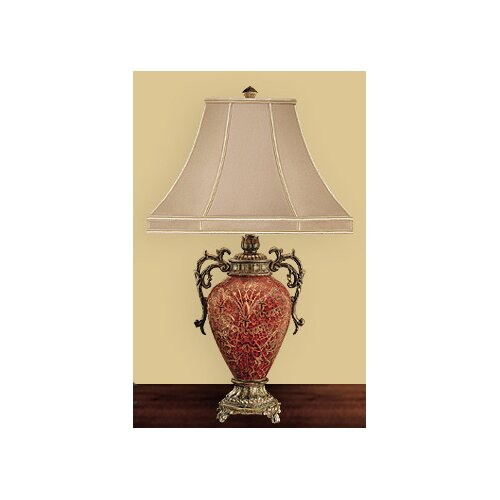 "JB Hirsch Home Decor Sunburst Heart 30"" H Table Lamp with Bell Shade"