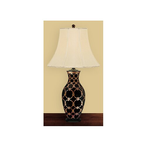 JB Hirsch Home Decor Laurien Vase Porcelain Table Lamp