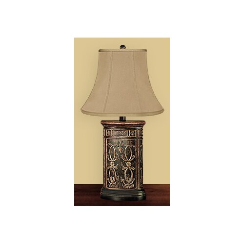 "JB Hirsch Home Decor Regal Canister 29"" H Table Lamp with Bell Shade"