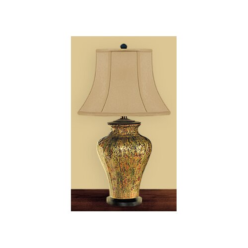 "JB Hirsch Home Decor Rainstorm Abstract 28"" H Table Lamp"