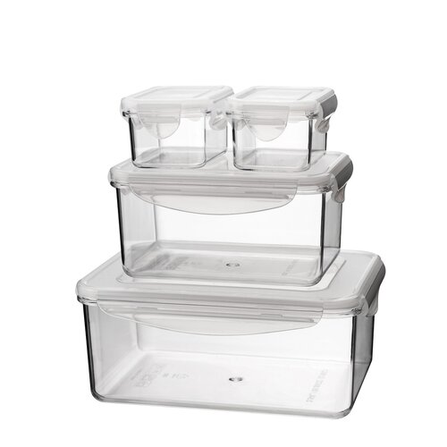Tritan 8-Piece Rectangular Container Set with Sealed Lid
