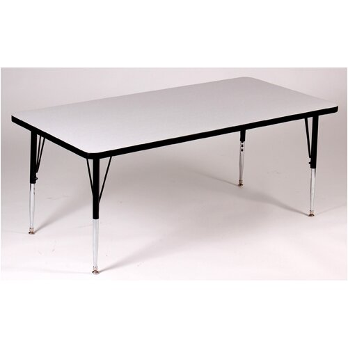 Correll, Inc. Rectangle Activity Table with Grey Granite Top