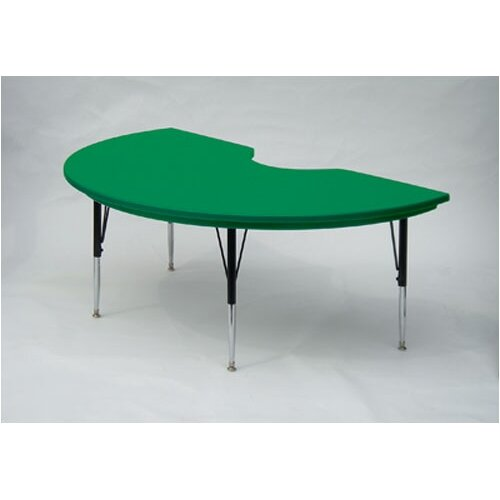 Correll, Inc. Kidney Shaped Plastic Activity Table with Standard Legs