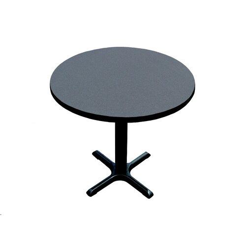"Correll, Inc. 29"" High Round Bar and Café Table with X Base and Column"