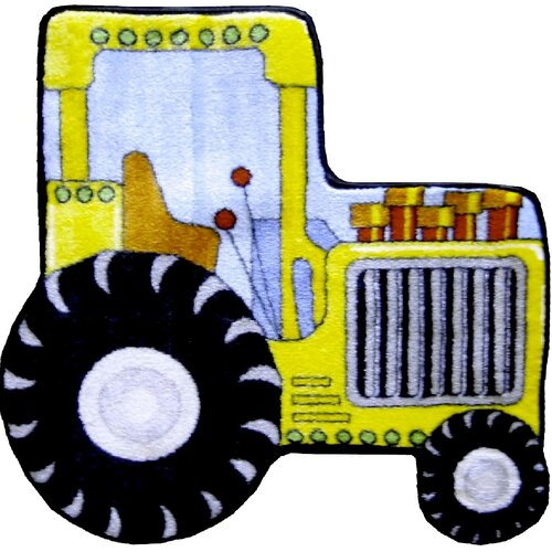 Fun Rugs Fun Shape High Pile Tractor Kids Rug